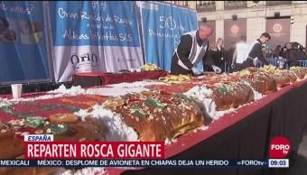 Parten Rosca de Reyes en España con viaje a Disneylandia