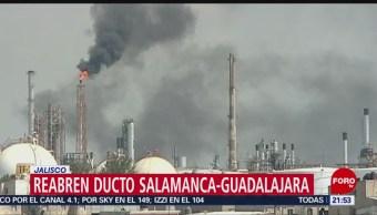 Reabren ducto Pemex Salamanca-Guadalajara