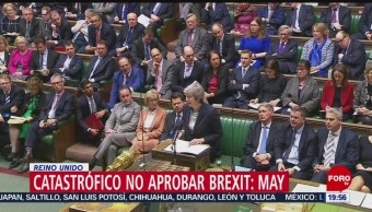 Rechazar plan para salir de Unión Europea sería catastrófico: Theresa May