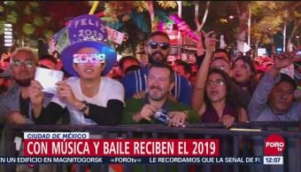 Reciben el 2019 con magno concierto en Paseo de la Reforma