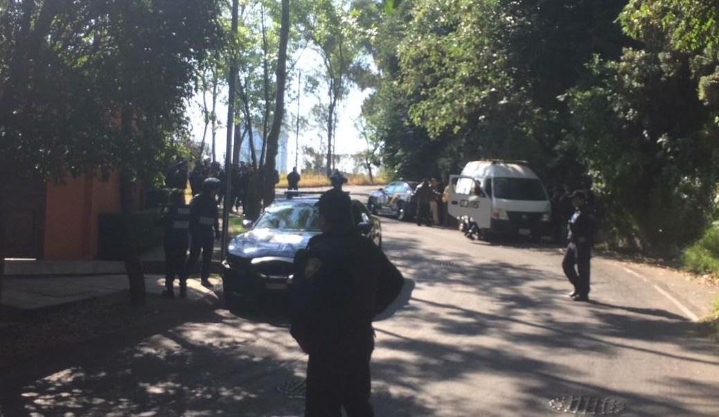Foto: Policías de la Secretaría de Seguridad de CDMX encuentran restos humanos en Bosques de las Lomas, el 29 de enero 2019