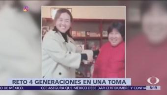 Reto de las '4 generaciones' se vuelve viral