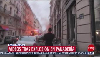 Revelan videos sobre explosión en panadería en Francia