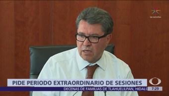 Ricardo Monreal busca periodo extraordinario en Senado por Guardia Nacional