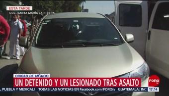 Robo a cuentahabiente genera balacera en Santa María la Ribera