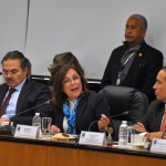 Foto: La secretaria de Energía, Rocío Nahle García, habla durante una reunión de trabajo con la Tercera Comisión de la Permanente del Congreso de la Unión, enero 28 de 2019 (Notimex)