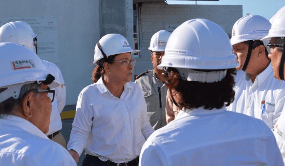 OTO Rocío Nahle evalúa instalaciones de refinería en Salina Cruz / 24 enero 2019 Oaxaca