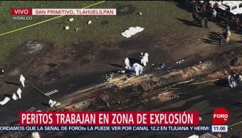 Imágenes aéreas de la zona donde estalló ducto de Pemex