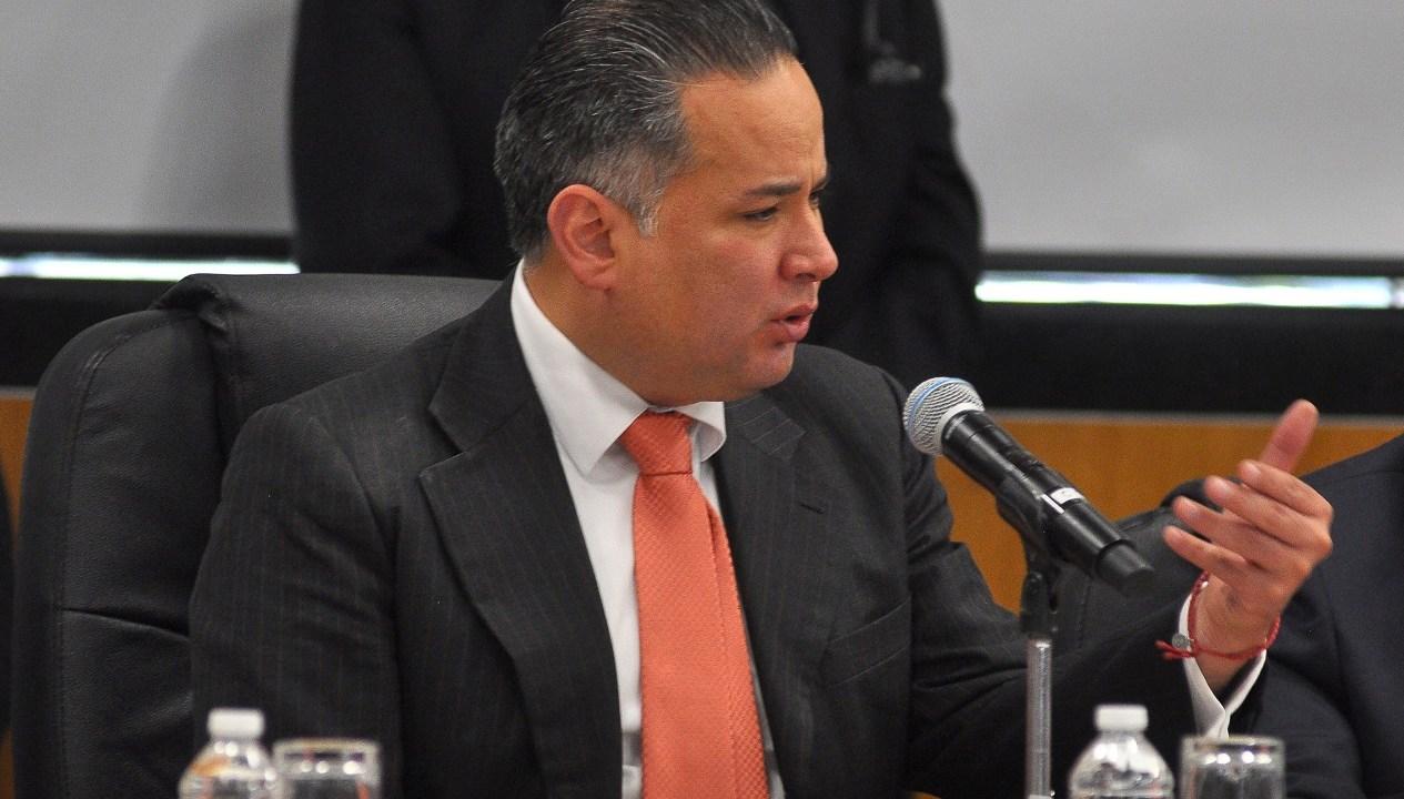 Foto: El jefe de la Unidad de Inteligencia Financiera de la Secretaría de Hacienda, Santiago Nieto Castillo, en Congreso de la Unión para explicar la estrategia de combate el robo de combustible, enero 28 de 2019 (Notimex)