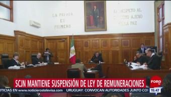 Foto: SCJN mantiene suspensión de Ley de Remuneración