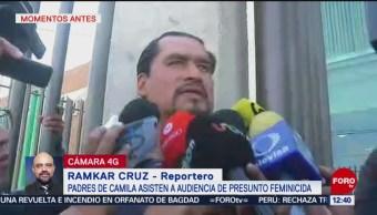 Se lo dejo a la justicia, dice padre de Camila tras audiencia