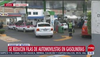 En la Ciudad de México se reducen las filas en gasolineras y el tiempo de espera; poco a poco, las estaciones de servicio se abastecen de combustible