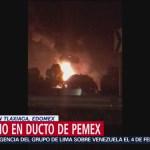Foto: Incendio Ducto De Pemex Edomex Tlaxiaca, 28 de Enero 2019