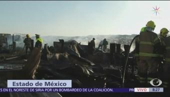 Se registra incendio en Bordo de Xochiaca, hay 2 muertos