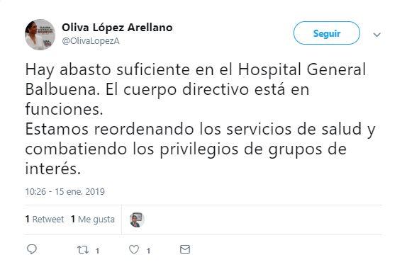 Secretaria de Salud de la CDMX confirma abasto en Hospital Balbuena