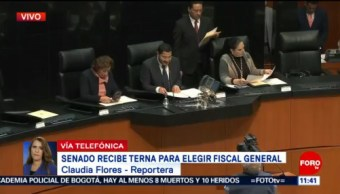 Senado recibe terna para elegir fiscal general