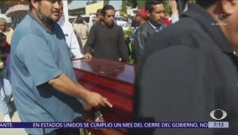 Sepultan a víctimas de la explosión en Tlahuelilpan, Hidalgo