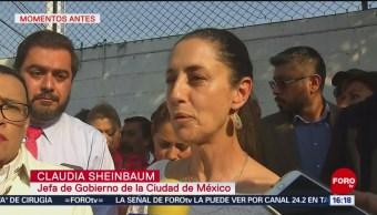 Foto. Sheinbaum confirma hallazgo de túnel con toma clandestina en Azcapotzalco