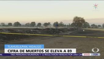Sigue acordonada zona de explosión en Tlahuelilpan, Hidalgo