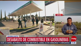 Sigue desabasto de gasolina en León, Guanajuato