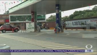 Sigue desabasto de gasolina en oriente del Valle de México