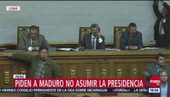 Sin México, Grupo De Lima Pide A Maduro No Asumir La Presidencia De Venezuela, Sin México, Grupo De Lima, Maduro No Asumir La Presidencia De Venezuela, Venezuela, Nicolás Maduro