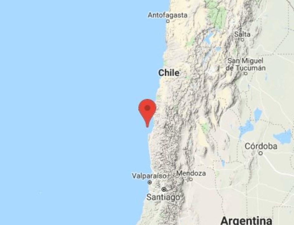 Sismo de magnitud 6.7 sacude cinco regiones de Chile