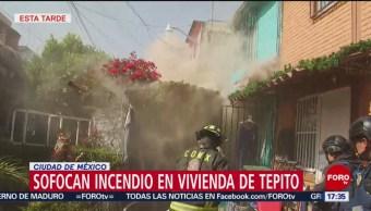 Sofocan incendio en vivienda en Tepito