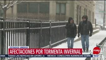 Tormenta invernal deja 5 muertos en Estados Unidos