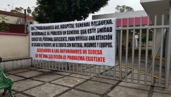 Trabajadores del Hospital Balbuena protestan por suministros