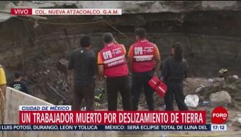 Trabajan en rescate de obreros sepultados