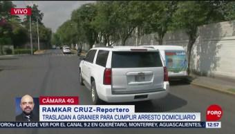 Trasladan a Andrés Granier del Reclusorio Sur a domicilio privado