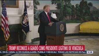 Trump reconoce a Guiado como presidente legítimo de Venezuela
