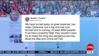 Foto, 26 enero 2019,Trump tuiteó nuevamente sobre la caravana migrante