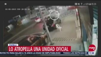Unidad Oficial Atropella A Una Persona En Puebla, Unidad Oficial, Atropella A Una Persona, Puebla,