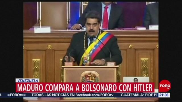 Bolsonaro Es Un Hitler Dice Maduro