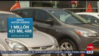 Venta de vehículos ligeros bajó en diciembre