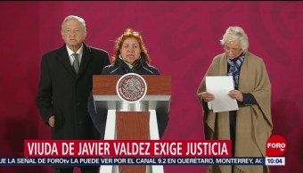 Viuda de periodista Javier Valdez exige justicia