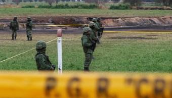 Ejército resguarda zona de explosión en Tlahuelilpan