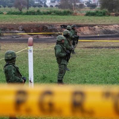 Ejército resguarda zona de explosión en Tlahuelilpan, Hidalgo