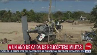 FOTO: A un año de la caída del helicóptero en Jamiltepec, Oaxaca, 17 febrero 2019