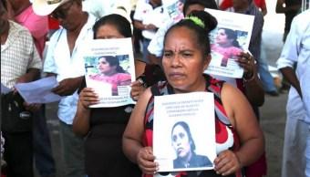 Foto: búsqueda de activistas desaparecidos en Guerrero, 15 de febrero 2019. Twitter @RedDefensorasMx