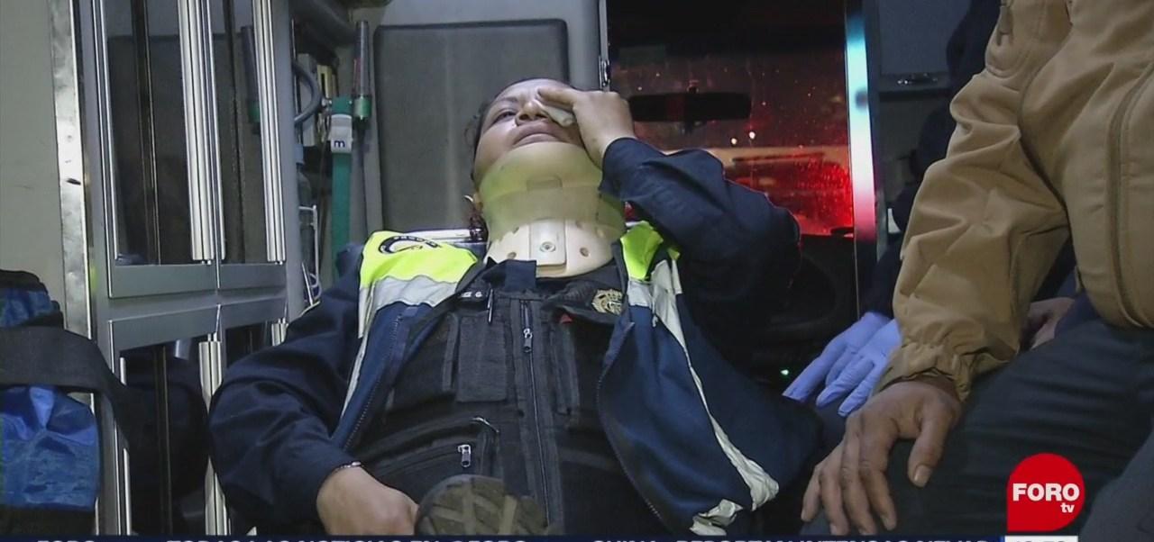 Foto: Agreden a mujer policía durante programa Conduce Sin Alcohol en la CDMX