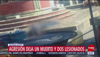 FOTO: Agresión deja un muerto y dos lesionados en Guanajuato, 3 febrero 2019
