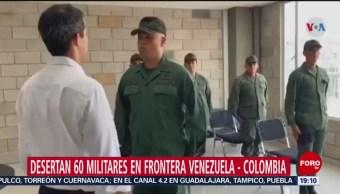 FOTO: Al menos 60 militares desertan en Venezuela, 23 febrero 2019