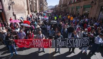 Foto: Alumnos de educación básica cumplen un mes sin clases en Michoacán 7 febrero 2019