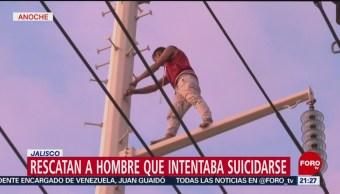 Foto: Amenaza Suicidarse Torre Luz Jalisco 22 de Febrero 2019