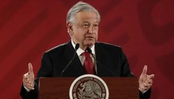Foto: Andrés Manuel López Obrador, presidente México, conferencia 5 de febrero 2019