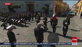 AMLO encabeza 102 aniversario de la promulgación de la Constitución