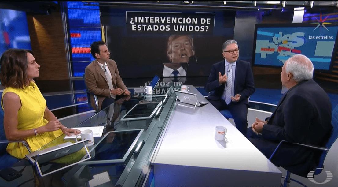 Foto: Ana Francisca Vega, Carlos Loret de Mola, Enrique Campos y Ernesto Samper, 28 de febrero de 2019, Ciudad de México